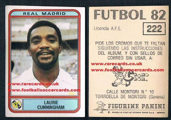 1982 Laurie Cunningham Real Madrid 222